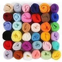 Lance Home Kit Lana Feltro 36 Colori Matassa di Lana Lavoro a Maglia Set con 10 Aghi di feltro+ Maniglia di legno+ Bottiglia per aghi+ Schiuma pad per Lavoretti Creativi Fai da Te