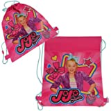 JoJo Siwa 14 Inch Sling Drawstring Cinch Sack Bag Totes Pink- 1PC, Pink, Multi