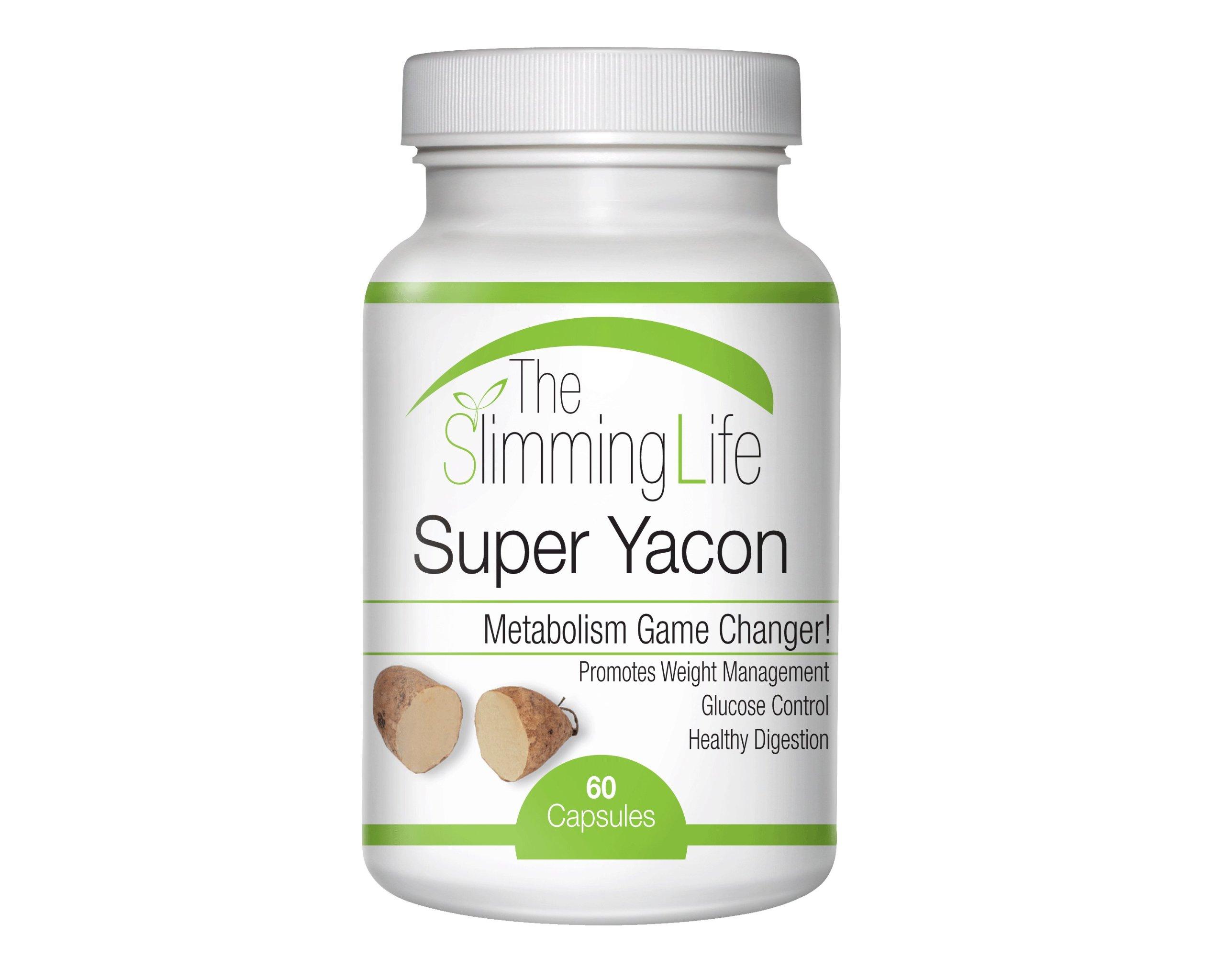 Yacon Pills | 100% Pure Yacon Root | Yacon Capsules | Yacon Organic | Yacon Root | Premium Yacon Root Extract Pills | The Slimming Life