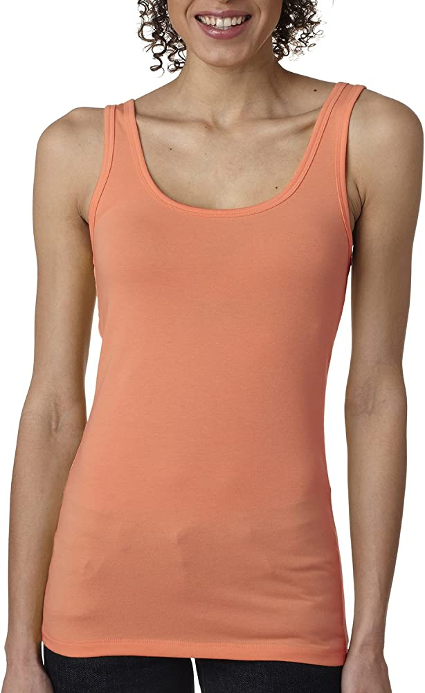 Next Level Apparel Jersey Solid Tank Top Women/'s Junior Fit 3533 RED Fashion New