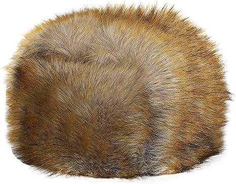 Sombrero mujer gorro cálido gorra orejeras con pelo sintético Retro ...