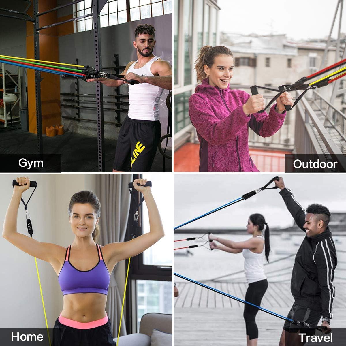 Yoga Set Trx Fitness Bande di Resistenza Cinghia da appendere TENSIONE Pull corda formazione