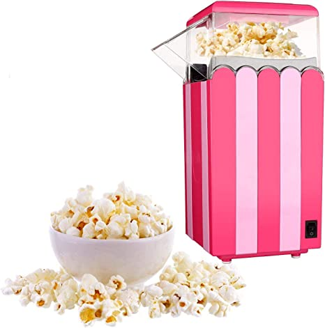 Great for Family Parties and Movies Night Household Popcorn Popper for Healthy Snacks Hot Air Popcorn Machine,No Oil Needed BPA Free1200W Electric Popcorn Maker Red DIY Your Own Taste High Efficiency