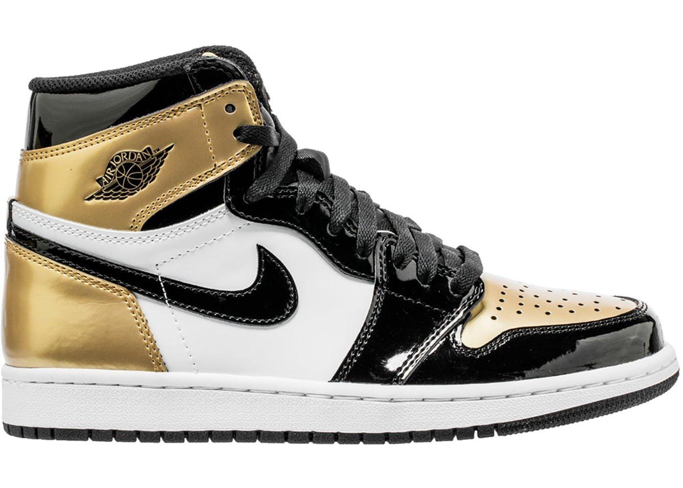 NIKE Air Jordan 1 Retro High OG NRG 861428 007'' Gold Toe (9)