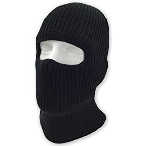07d78eabadf Double Layered Knitted One Hole Ski Mask - Assorted Colors Tactical  Paintball Running