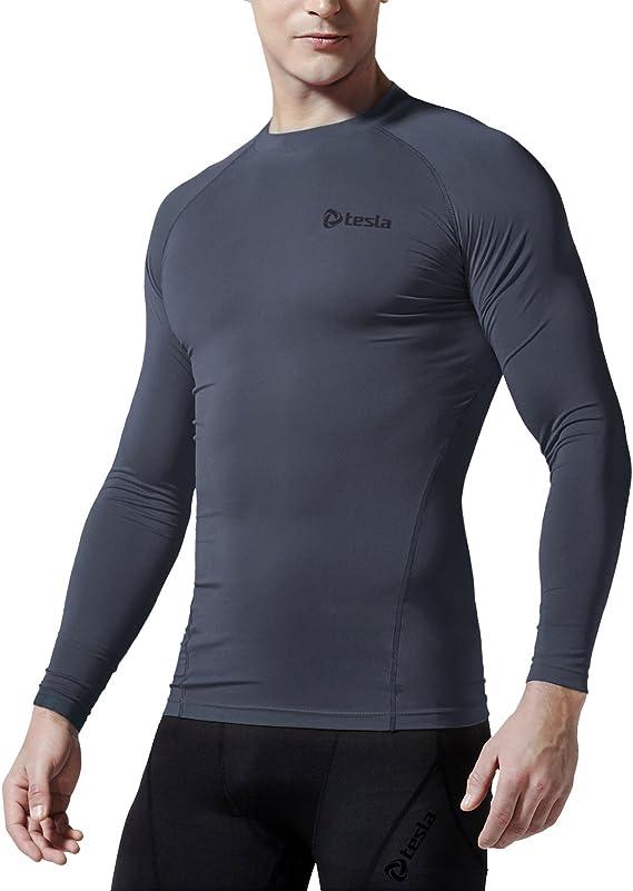 Tesla Hombres térmica de Wintergear Camiseta Interior de compresión Manga Larga Top yud34/R34 – /RX1/R44