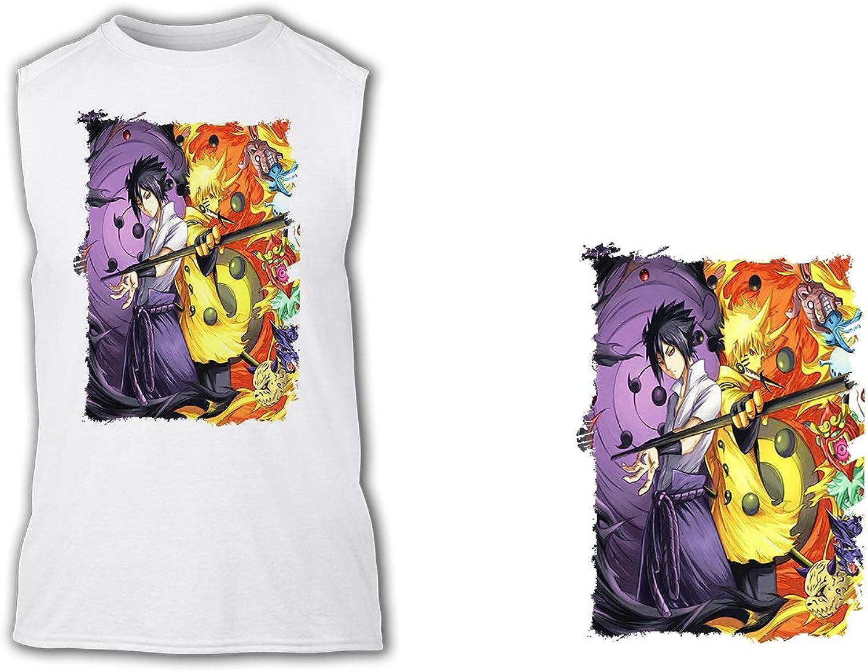 Camiseta SIN Mangas A3 Sasuke Y Naruto Sharingan Tshirt ...