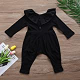 Infant Baby Girls Lovely Button Up Romper Lotus