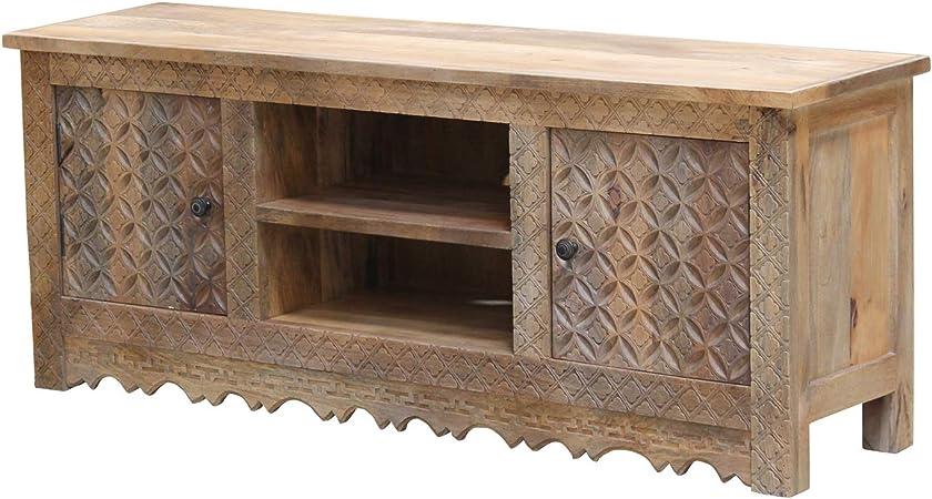 Casa Moro CAC15901320 Mira - Mueble para televisor (150 x 40 x 60 cm, madera maciza de mango): Amazon.es: Hogar