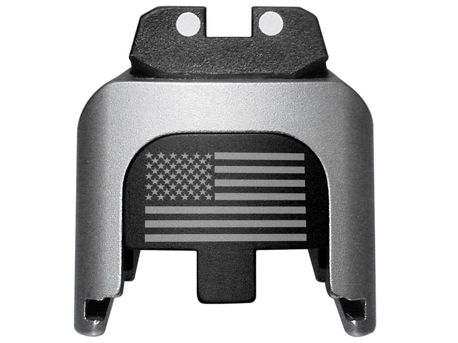 SD40VE 9mm .40 Zero F-CKS Given SD9 BASTION Laser Engraved Rear Cover Slide Back Plate for Smith and Wesson S/&W SD9VE SD40