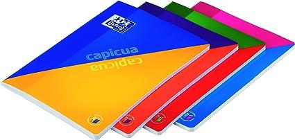 Oxford Capicua - Pack de 5 libretas grapadas de tapa blanda, A4: Amazon.es: Oficina y papelería