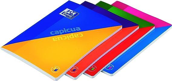 Oxford Capicua - Pack de 5 libretas grapadas de tapa blanda, A4 ...
