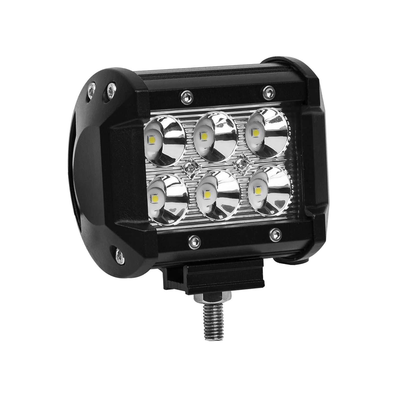 Eyourlife LED Auto Scheinwerfer Offroad Arbeitsscheinwerfer 18W 1800Lumen Spot 2 Stü ck