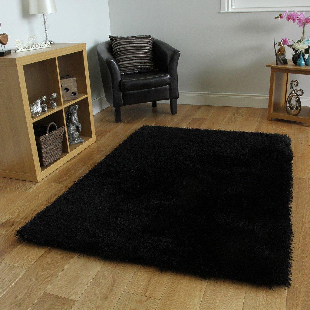 Alfombras peludas estera de puerta tira cm pelo floor rug for Alfombra negra pelo largo