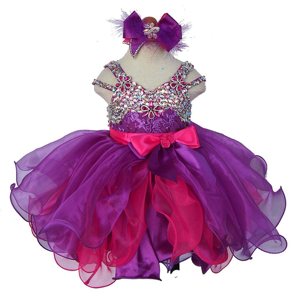Jenniferwu Infant toddler baby newborn little Girl's Pageant party birthday Dress CGG266-1 SIZE 2T
