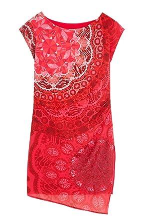 Robe Courte 18swvwxaRouge46 India Desigual Femme Vest Nwnm80Oyv