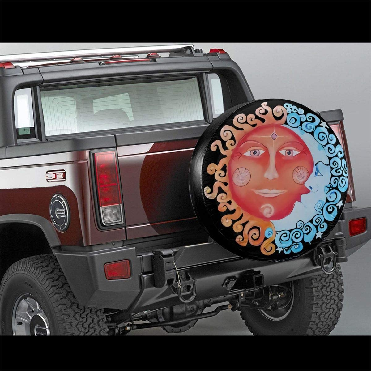 RV 14,15,16,17 Inch SHOE GONE Car Tire Cover Sun Moon Spare Wheel Tire Cover for Jeep,Trailer Truck Wheel,Camper Travel Trailer Accessories SUV