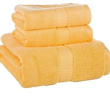 LOF-fei Juego de Toallas Premium de 3 Piezas,60% DE bambú y