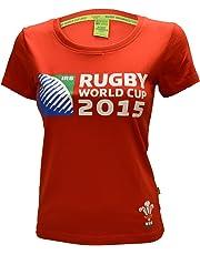 ORIGINMENSWEAR Ladies Wales Original WRU Rugby World Cup 2015 Skinny FIT Printed T-Shirt TOP