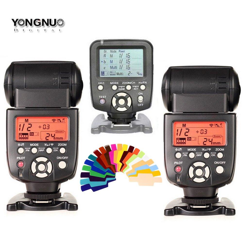Yongnuo yn560 III 2個フラッシュスピードライトキット+ yn560 TXフラッシュコントローラfor Canon DSLRカメラ   B0146M2R12