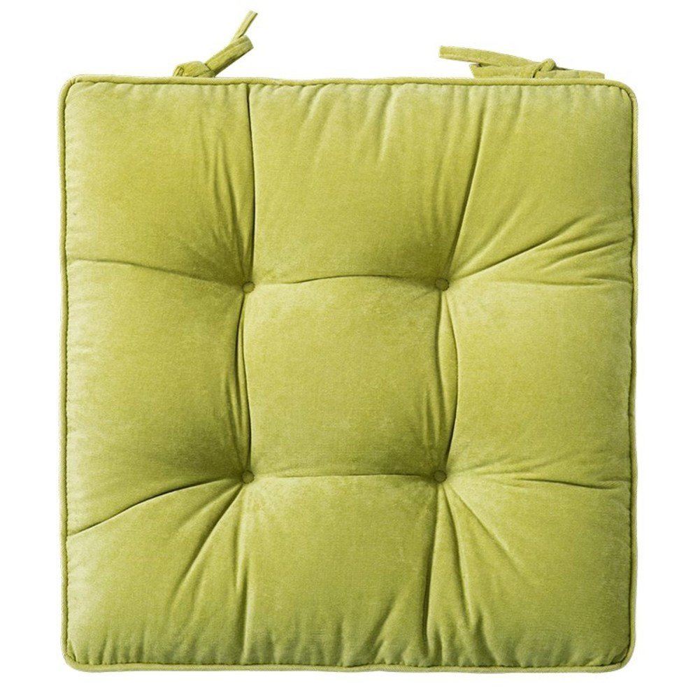 YQ WHJB Dining Chair pad with Ties,Square Reversible Seat Cushions,Nonslip Plush Pp-Cotton Tatami Chair Cushion-E 42x42cm(17x17inch) by YQ WHJB