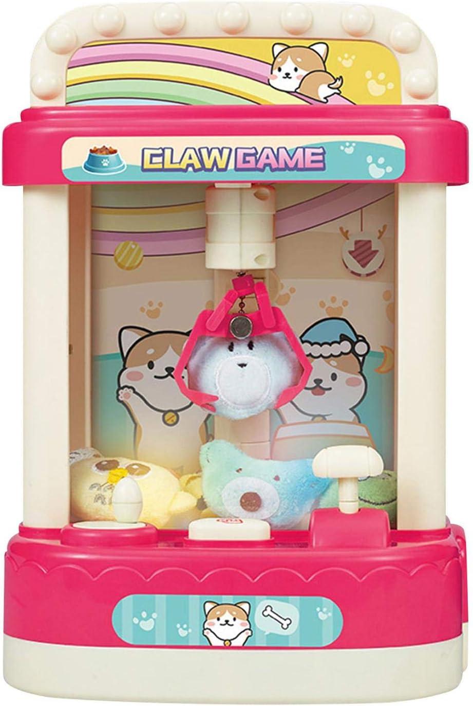 AIflyMi Juego de Arcade Claw Machine y dispensador de Dulces para premios pequeños, Juguetes y golosinas, Reproduce Sonidos Originales de música Arcade, Mini máquina expendedora Genial