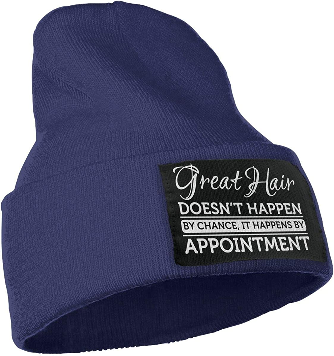 COLLJL-8 Men /& Women Great Hair Doesnt Happen by Chance Hairstylist Outdoor Warm Knit Beanies Hat Soft Winter Skull Caps