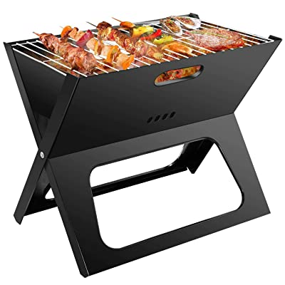 DLINMEI Household Portable Charcoal Grill Folding Collapsible Outdoor Barbecue Grill Carbon Oven: Home & Kitchen