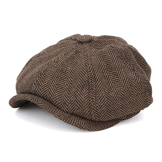 85116252251 HSRT Visor Woolen Blending Newsboy Beret Cap Outdoor Casual Winter Cabbie  HatCoffee