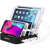 MixMart 5ポート 充電スタンド USB充電器 5台同期 急速充電 充電ステーション デスクトップ iPhone/iPad/Nexus/Galaxy/ タブレットPC スマートフォン 充電対応 黒