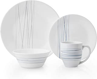 product image for Corelle Boutique Silver Strand Chip Resistant 16-Piece Dinnerware Set, Service for 4