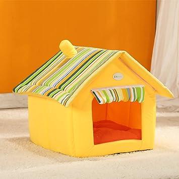 Casa de perro suave de productos para animales de cama del perro del refugio casa del animal doméstico del gato del perrito lavable (M, ...