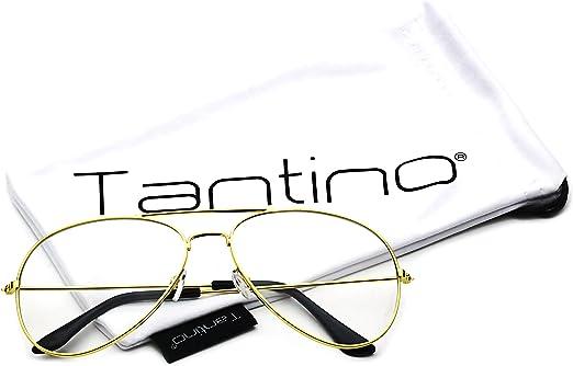 80/'s Vintage Retro Aviator Metal Frame Clear Lenses Women Eyeglasses Glasses