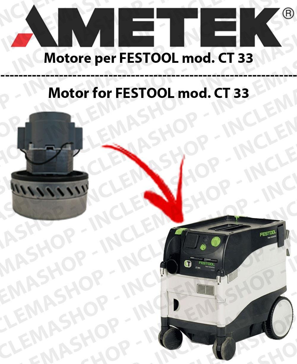 CT 33 Motor aspiración ametek para aspiradora Festool: Amazon.es ...
