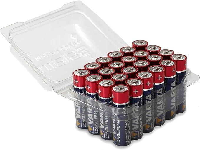 Varta Longlife MAX Power - Pilas alcalinas AA Caja de 24 Pilas AA. 24er Box: Amazon.es: Electrónica