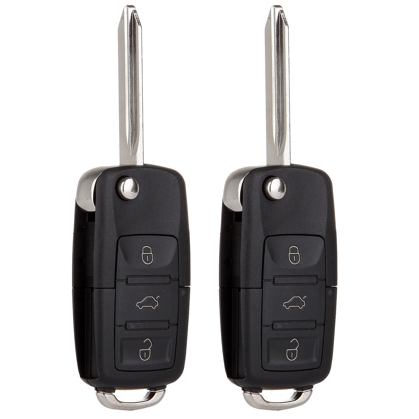 SCITOO 2X Keyless Entry Remote Flip Key Fob Remote 4 Buttons Replacement fit 00-2005 Ford Explorer CWTWB1U212