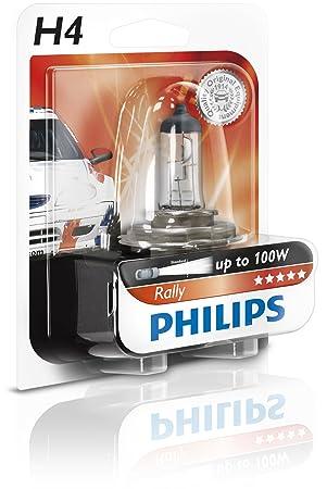Philips 12454RAB1 Rally - Bombilla para faros delanteros (H4, 1 unidad): Amazon.es: Oficina y papelería