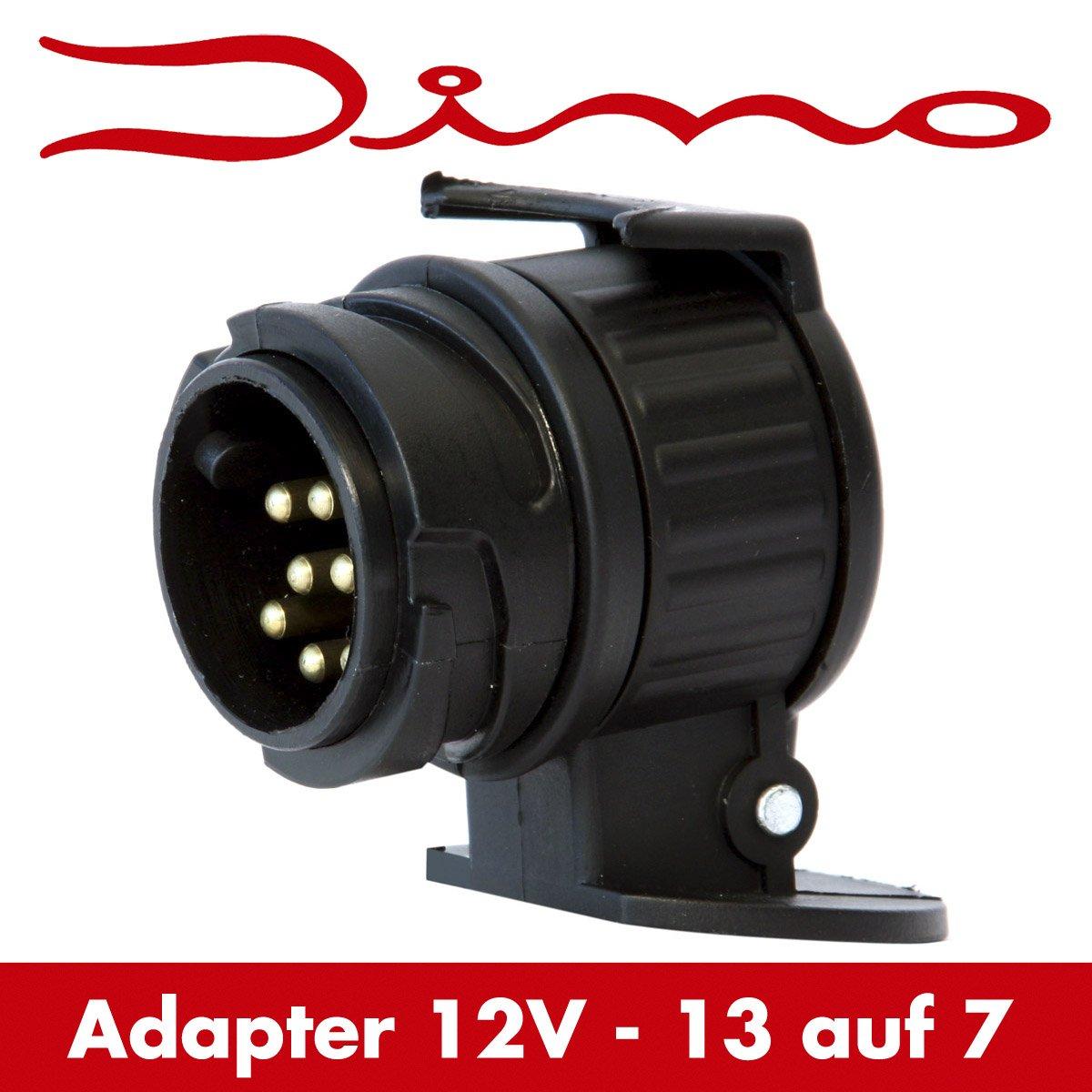 Dino 130007 Anhänger Kurz Adapter Stecker Kurzadapter 13 auf 7 polig ...