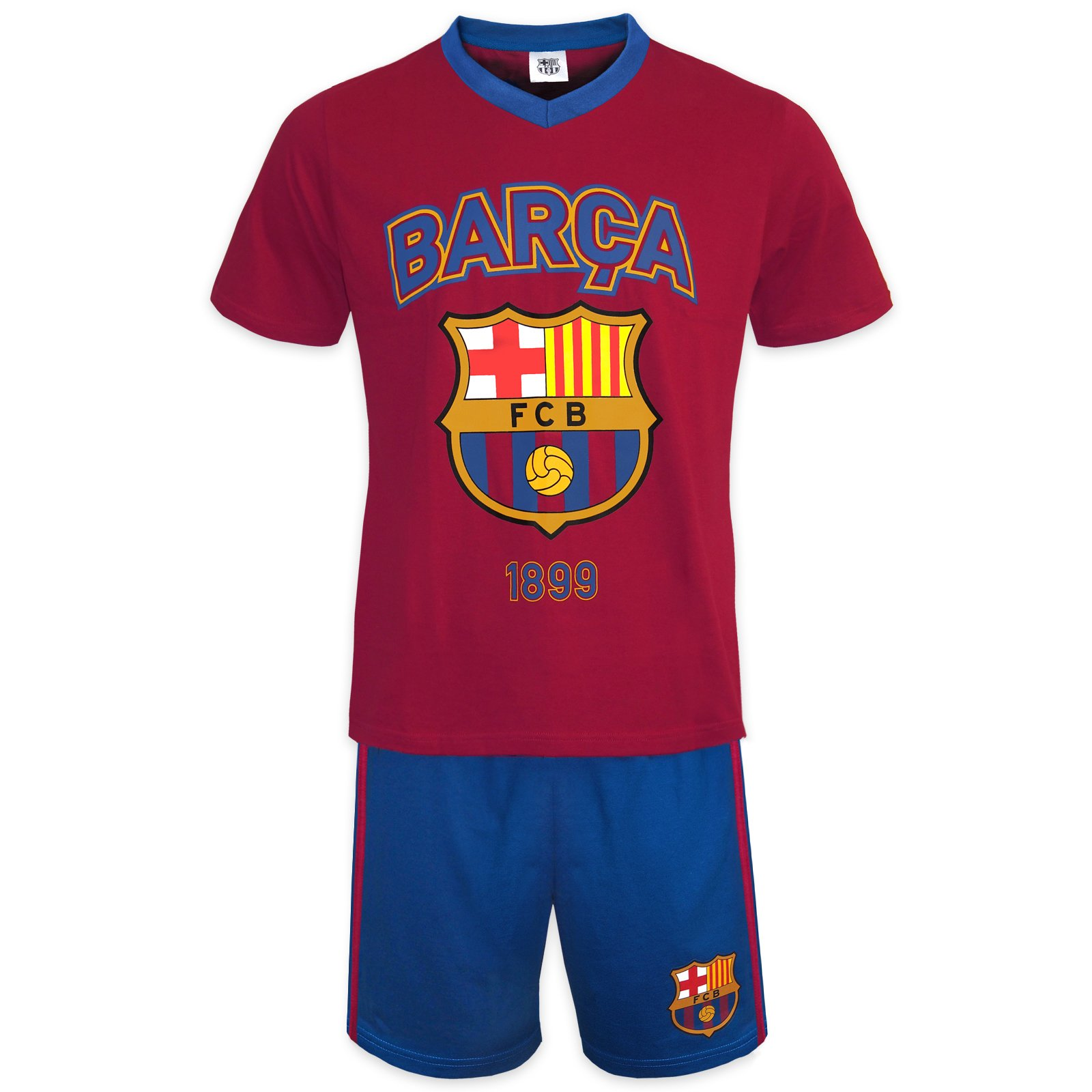 FC Barcelona Official Soccer Gift Mens Loungewear Short Pajamas Medium