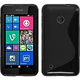 PhoneNatic Custodia per Nokia Lumia 530 Cover nero S-Style Nokia Lumia 530 in silicone Cover