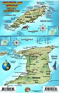 Amazoncom Trinidad Tobago Caribbean Map Pearl Souvenir