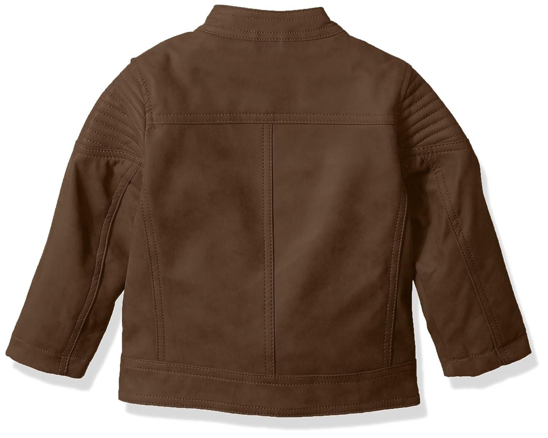 Urban Republic Baby Boys Pu Suede Faux Leather Moto Jacket