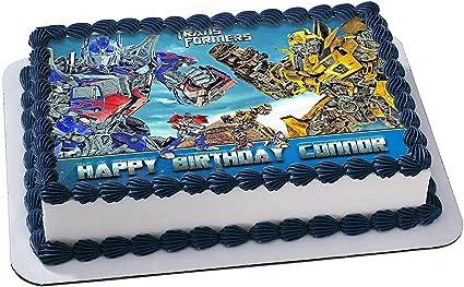 Pleasing Amazon Com Transformers Optimus Prime Bumblebee Cake Topper Funny Birthday Cards Online Alyptdamsfinfo