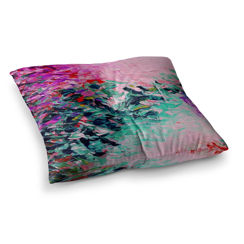 23 x 23 Square Floor Pillow Kess InHouse EBI Emporium Romantic Getaway Pink Teal