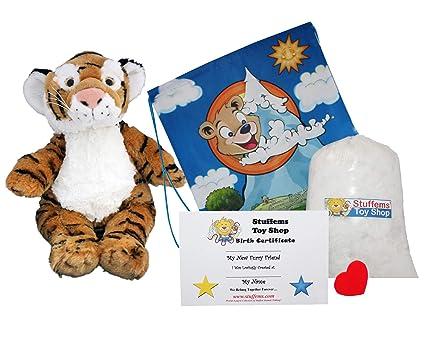 Amazon Com Make Your Own Stuffed Animal Bengal Tiger No Sew Kit