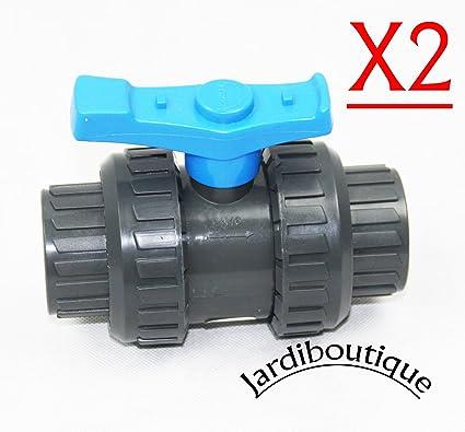 Válvula en PVC – SVT para tubería de diámetro 40 mm – Juego 2 Vannes –
