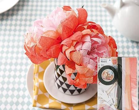 Diy Crepe Paper Flower Template Kit Chrysanthemum Paper