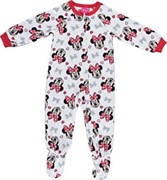 4ef4ff0760 Amazon.com  Disney Girls Minnie Mouse Pajamas - Blanket Sleeper Pajama Set   Clothing