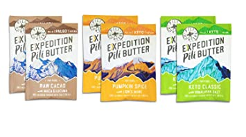 Pili Hunters The Original Pili Nut Butter Squeeze Packets Variety Pack 6 Count Box, Keto, Paleo, Vegan, Low Carb Energy, No Sugar Added, Ketogenic Fat, Gluten/Soy/Dairy Free, 1 Oz. Packets by Pili Hunters