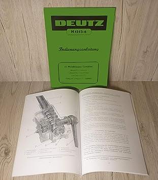 Deutz Werkstatthandbuch Motor 514 F3L514 für Traktor F3L514//7 .